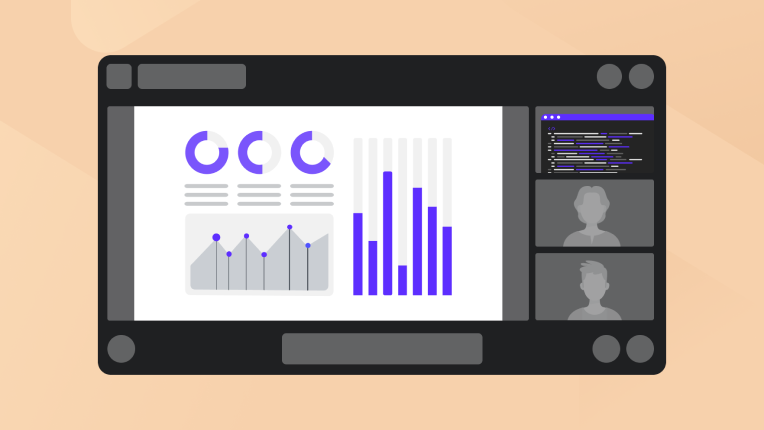 Simultaneous share of multiple screens in videoconferece